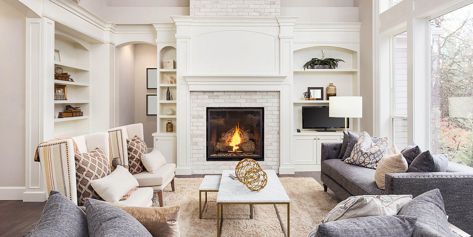 Elegant Living Room Interior in Wilmington, NC
