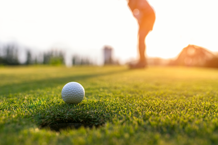 Golfer asian woman